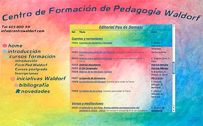 Listado de bibliografía de la Editorial Pau de Damasc. Centro de Formación de Pedagogía Waldorf